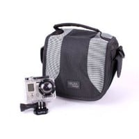 DURAGADGET Padded Camera Bag With Shoulder Strap & Zip Pockets For Go Pro Hero HD, Wide, Naked, 960...