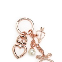 ROSE GOLD BOW AND HEART KEYFOB by Juicy Couture, O/S