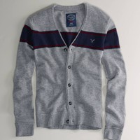 AE Striped V-Neck Cardigan | American Eagle Outfitters