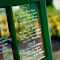 Real Weddings - A Traditional Wedding in Foristell, MO - Window Seating Chart
