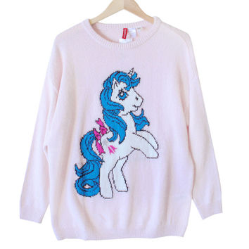 H&M Vintage Look My Little Pony Long Sweater – Pink