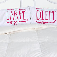 Carpe Diem Pillowcase - Set of 2