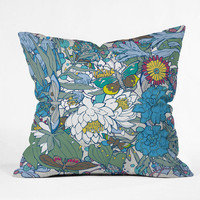 Geronimo Studio Blue Butterflies Throw Pillow