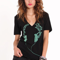 Lost in the Sound V-neck Tee - $27.00 : ThreadSence.com, Your Spot For Indie Clothing & Indie Urban Culture