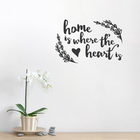 Where The Heart Is Wall Quote Decal