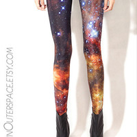 Mysterious Galaxy Stars Universe Leggings