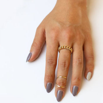Chain Ring - 14K Gold filled and Sterling silver