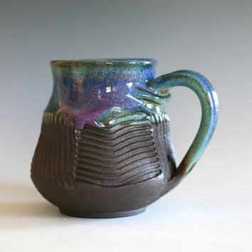 Coffee Mug, handmade ceramic cup, tea cup, coffee cup, handthrown ceramic stoneware pottery mug, unique coffee mug