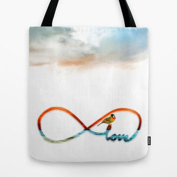 Infinity Love Tote Bag by Haroulita