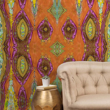 Ingrid Padilla Fancy Orange Tapestry