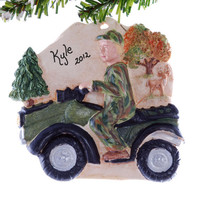Four wheeler Christmas Ornament - Personalized four wheeler ornament - ATV Christmas ornament