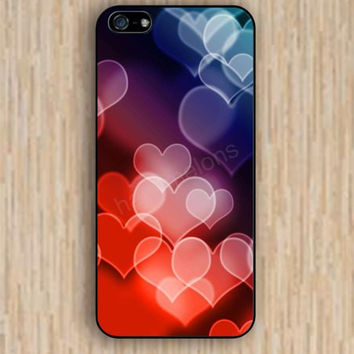 iPhone 5s case heart colorful iphone case,ipod case,samsung galaxy case available plastic rubber case waterproof B027