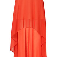 Red Dip Back Maxi Skirt - Skirts  - Apparel
