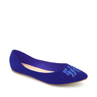 Kentucky Wildcats Pointed Toe Suede Ballet Flats