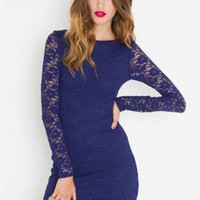 Cutout Lace Dress - NASTY GAL
