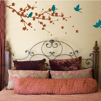 Cherry Blossom Wall Art Vinyl Decal LARGE by studiowallart