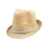 Natural Fedora With Rope Accent