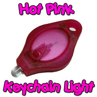 Hot Pink Keychain Light