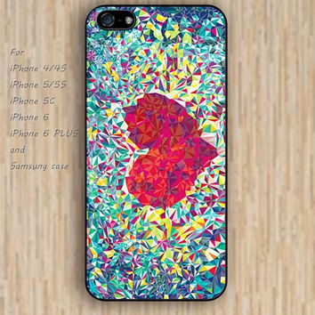 iPhone 5s case heart case colorful iphone case,ipod case,samsung galaxy case available plastic rubber case waterproof B036