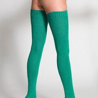 Cotton Solid Thigh-High Sock | Thigh-Highs | Accessories' Socks | American Apparel