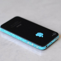 Original iPhone 4 GSM AT&T Antenna Wrap (Sparkling Turquoise)
