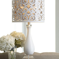 Scroll-Shade Table Lamp - Horchow