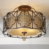 &quot;Marcella&quot; Semi-Flush Ceiling Fixture - Horchow