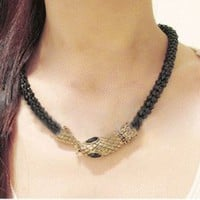 Cobra Kiss Fashion Necklace  | LilyFair Jewelry