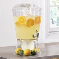 Beverage Dispenser with Ice Cylinder - Fresh Finds - Tabletop &amp; Entertaining &gt; Serveware
