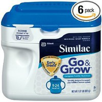 Similac Go & Grow Milk Based Formula, Powder, 22-Ounces (Pack of 6) $128.82