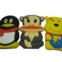 NEW Animal hard Rubber case for iPhone 4/4s