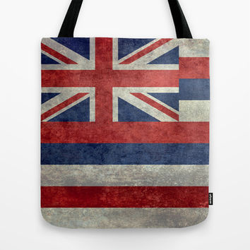 The State flag of Hawaii - Vintage version Tote Bag by Bruce Stanfield