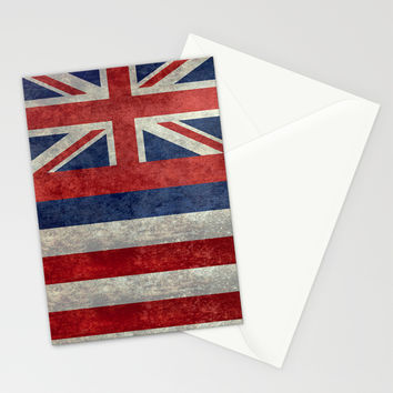 The State flag of Hawaii - Vintage version Stationery Cards by Bruce Stanfield