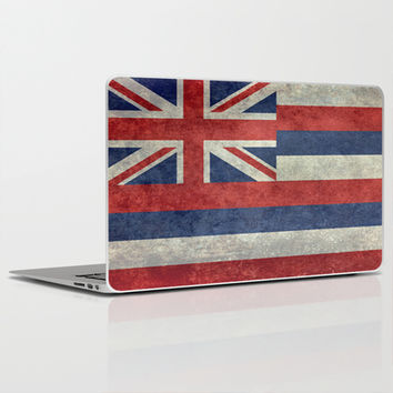 The State flag of Hawaii - Vintage version Laptop & iPad Skin by Bruce Stanfield
