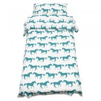 Anorak Kissing Horses Single Duvet Set - Bedding from Anorak UK