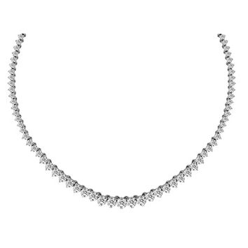3-1/2 CT. T.W. Graduated Diamond Riviera Tennis Necklace in 14K White Gold - 17