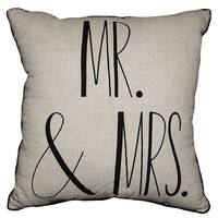 Spencer ''Mr. & Mrs.'' Throw Pillow