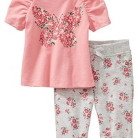 Graphic Tee & Jersey Legging Sets for Baby