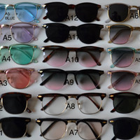 Pick 3 Clubmaster Deadstock Vintage Color Retro Sunglasses