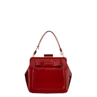 Orla Kiely - Glossy Claret Patent Leather Holly Bag