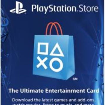 Sony - $50 PlayStation Network Card - Blue