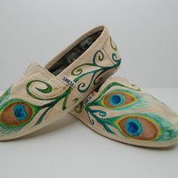 Swirly Peacock Custom TOMS by KellismCo on Etsy