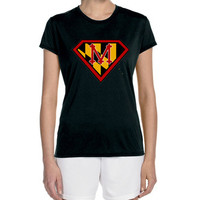 "Women's Short Sleeve Performance ""Maryland Super Runner"" Technical T-Shirt"