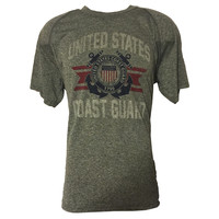 Coast Guard Grey Technical T-Shirt - Made in U.S.A.