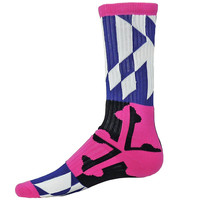 Maryland Flag Athletic Running Socks Pink Multi