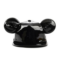 Mickey Mouse Ears Enamel Finish Snapback Cap Hat QS4