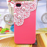 iPhone 4,4S hard Case cover with pearl gauze for Apple iPhone 4 case,iPhone 4S case ,iPhone 4GS case  -2654