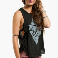 Pyramid Distressed Tank $21