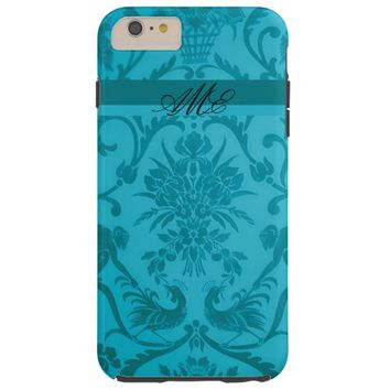 Pretty Teal Floral Toile Design iPhone 6 Case