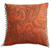 Pier 1 Imports - Product Detail - Paprika Copper Paisley Pillow